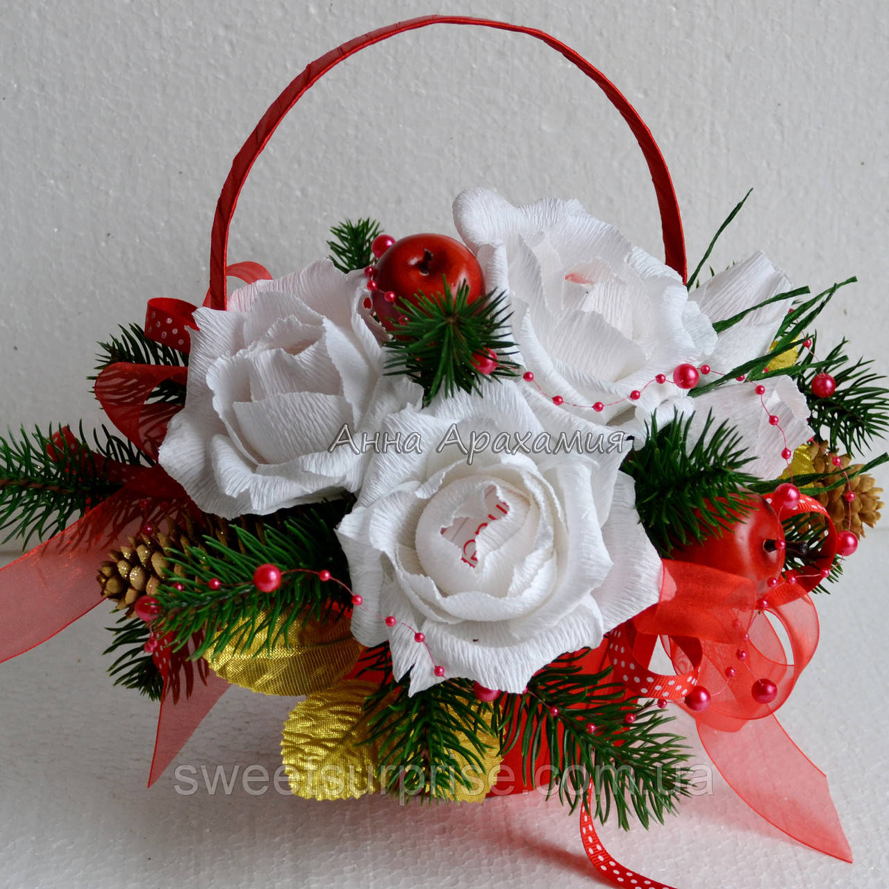 Новогодняя подарочная корзина (мини)