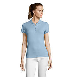 Женская рубашка поло SOL'S PASSION, Sky-blue_200, размеры от S до ХXL