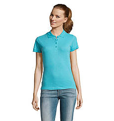 Женская рубашка поло SOL'S PASSION, Atoll-blue_225, размеры от S до ХXL