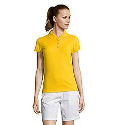 Женская рубашка поло SOL'S PASSION, Gold_301, размеры от S до ХXL