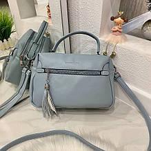 Женская сумка на 2 отделения F&L голубая СФЛ3