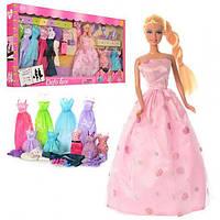 Кукла 29 см с большим набором DEFA 8193 наряды, платья, сумочка, обувь, аксессуары