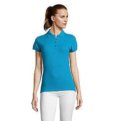 Женская рубашка поло SOL'S PASSION, Aqua_321, размеры от S до ХXL