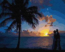Картина за Номерами Світанок на березі 40х50см RainbowArt