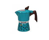 Гейзерна кавоварка GAT COFFEE SHOW бірюзова на 6 чашок (104606 бірюза)