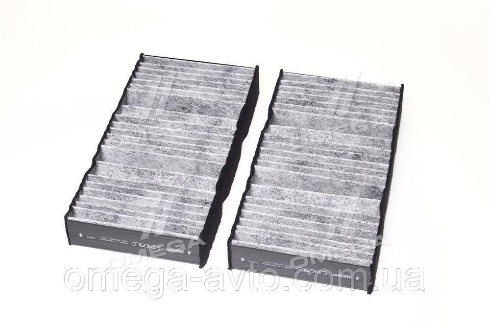 Фільтр салону MB C, GL, GLS, ML 11 - вугільний (2шт.) (пр-во HENGST) E3909LC-2