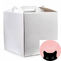 Коробка для торта з мікрогофри, розмір 300*300*300 (20-00777)