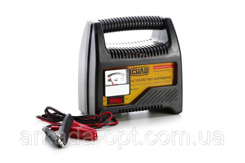 Зарядное устройство для авто СИЛА 6А, 12В, до 80Ah (031909)