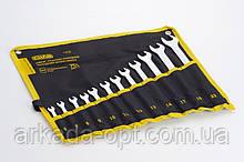 Набор ключей рожково - накидых СИЛА CrV 6-19 22 мм 15 шт (049773)