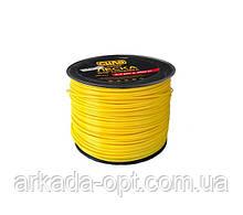 Леска для триммера СИЛА круг 3 мм 300 м Желтый (032222)