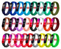ОПТ Ремешок силиконовый для XIAOMI MI BAND 3 / 4 / 5 (палитра 25 цветов)