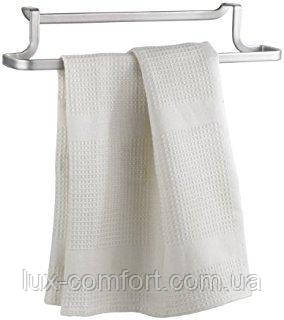 Держатель Metaltex для полотенец 30х8х5 см серый металлик покрытие Polytherm (350604)