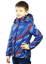 Куртка демісезонна Be easy 104 (21VKM2-04-1349) 1663-Світло-синій з принтом, 104