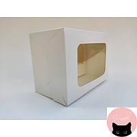 Коробка на 2 капкейка з віконцем, 160*110*85