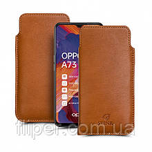 Футляр Stenk Elegance для OPPO A73 Camel