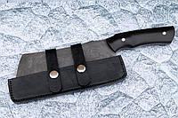 Кухонный топорик, секач ручной работы из дамасской стали и граба, с ножнами в комплекте