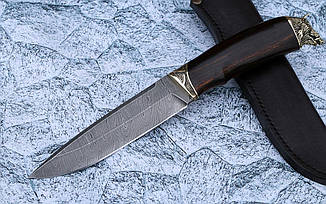 """Нож ручной работы """"Вепрь"""" из дамасской стали, фото 2"""