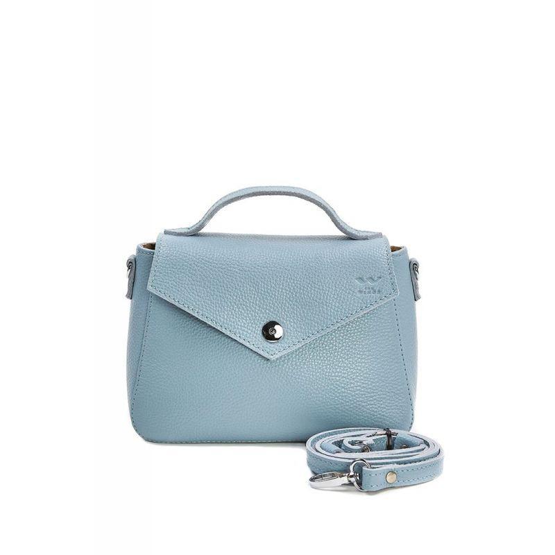 Женская кожаная сумочка Lili голубая флотар