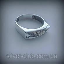 1043 Мужская печатка Миллениум из серебра 925 пробы