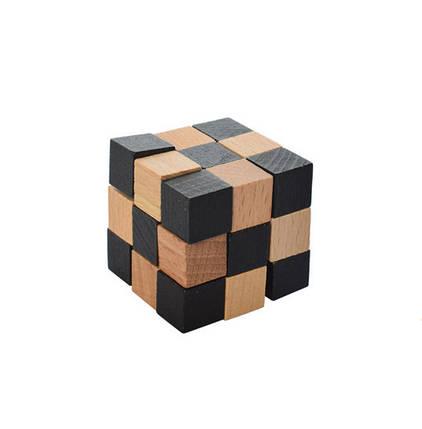 Деревянная игрушка Головоломка MD 2056 (Кубик-змейка MD 2056-11), фото 2
