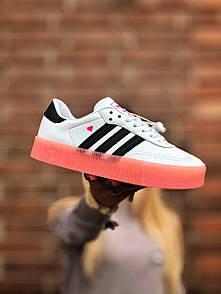 Жіночі кросівки Adidas Samba White/Black Pink