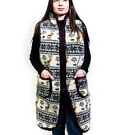 Дублянка хутряна із овечої вовни, 44-58 розмір в наявності, пальто із овчини, жилетки шерстяні