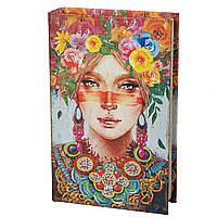 Книга сейф копилка для денег 26 см Девушка весна