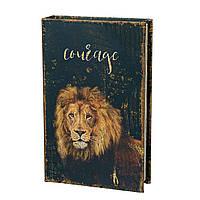 Книга сейф копилка для денег 26 см Лев.