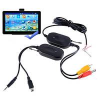 Автомобильный комплект беспроводной передачи видео на 2,4 ГГц с камеры заднего вида с подключением приёмника к