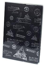 """Блок.- чёрн.лист,обл.ПВХ ,А5/52л.""""Париж"""" 110г/кв.м,4вид.(4*48)"""