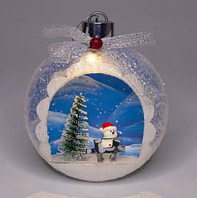 """Ялинкова куля LED 3D фігура """"Новий рік"""" 13,5х11,5х4,5см"""
