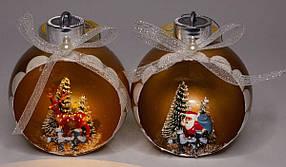 """Ялинкова куля LED 3D фігура """"Новий рік"""" 9х11х6,5см"""