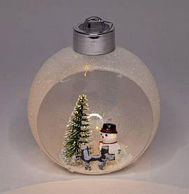 """Елочный шар LED 3D фигурка """"Снежный"""" 11х9,5х7см"""