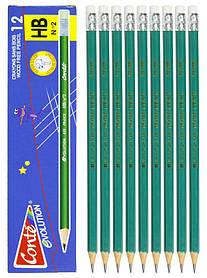 Олівець простий HB з гумкою, 655 - C