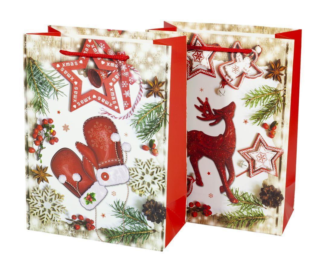 Подарочные пакеты 18*24*8.5cm с глитером, Unison, 9318S