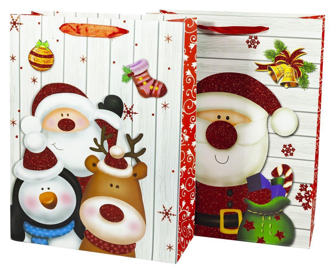Подарочные пакеты 26*32*10cm с глитером, Unison, 9318M
