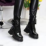 Дизайнерские черные женские ботинки с съемными кошельками сумочками, фото 5