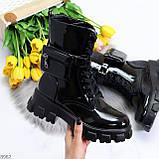 Дизайнерские черные женские ботинки с съемными кошельками сумочками, фото 6