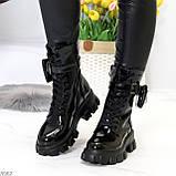 Дизайнерские черные женские ботинки с съемными кошельками сумочками, фото 7
