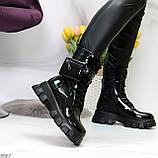 Дизайнерские черные женские ботинки с съемными кошельками сумочками, фото 10