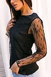 Hello Kiss! Элегантная блуза из тонкого кружева - черный цвет, L/XL, фото 3