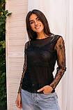 Hello Kiss! Элегантная блуза из тонкого кружева - черный цвет, L/XL, фото 4