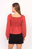 LUREX Блузка с открытими плечиками - красный цвет, S, фото 2