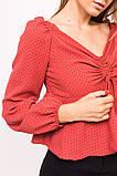 LUREX Блузка с открытими плечиками - красный цвет, S, фото 3