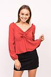 LUREX Блузка с открытими плечиками - красный цвет, S, фото 4