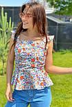 YI MEI SI Стильная женская блузка - белый цвет, M, фото 4