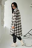 Clew Длинная женская рубашка оверсайз - коричневый цвет, S, фото 2