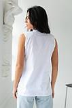 adda Блузка без рукавов с воротником-стойкой - белый цвет, L, фото 2