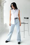 adda Блузка без рукавов с воротником-стойкой - белый цвет, L, фото 3