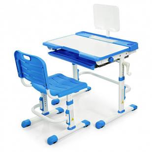 Парта трансформер Bambi M 3111(2)-4 со стульчиком, регулируемая, синяя (KL00013)